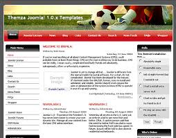 joomla football template. Free Joomla 10x Templates Football League by ThemZa