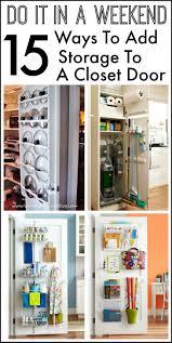 inside door. 15 Ways To Add Storage The Inside Of A Closet Door