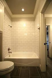 subway tile tub surround bathroom black grout bathrooms beveled modern antique designs porcelain ideas shower pictures