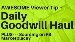 daily goodwill thrifting experiment sourcing facebook marketplace solds research