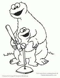 Sesame Street Cookie Monster Coloring Pages High Quality