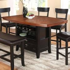 Wine rack dining table Wine Storage Counter Height Dining Table With Storage The Coaster Two Tone Counter Wingsandbeerme Counter Height Dining Table With Storage Charming Dining Table Wine