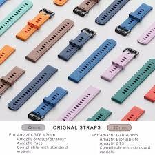 <b>20mm</b>/<b>22mm</b> Original Silicone <b>Strap</b> for Huami <b>Amazfit</b> GTS Smart ...
