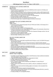 Quality Inspector Resume Resume Sample