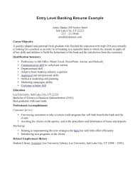 Bank Teller Entry Level Resume Oneswordnet
