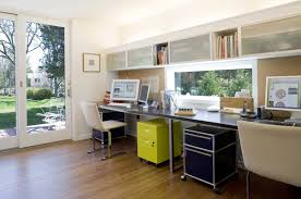 comfortable home office. Design Ideas: Comfortable Home Office With Ikea Furniture For Book Shelf And Built In Storage Plus Computer Desk Filing Cabinets Also Glass C