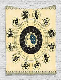 Hanging Celestial Chart Art Print Details About Zodiac Tapestry Constellation Chart Print Wall Hanging Decor