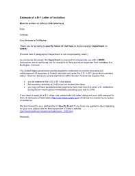 Example Of A B 1 Letter Of Invitation