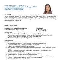 Job Profile Of Document Controller Administrative Document Controller Singapore