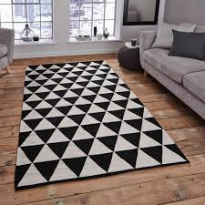 manhattan mh 211a black white rug by think rugs 1