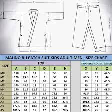 Jiu Jitsu Kimono Size Chart Malino Professional 100 Cotton Bjj Gi Black Pearl Weave 550gsm