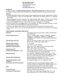 Cisco Network Engineer Resume New Resumes Cisco Network Engineer