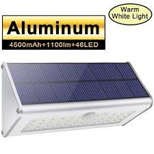 White Solar Lights Outdoor Led Solar Lights 1100lm 48 Led 4500mah Solar Powered