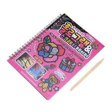 10pcs 16k colorful scratch art paper magic painting paper kids drawing tool