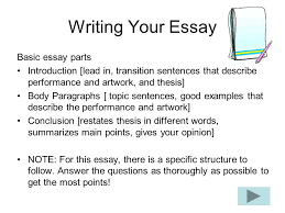 getting the most points on your final paper ppt writing your essay basic essay parts