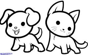 Cute Drawings Animals Coloring Pages Captivating Easy To Draw Easy