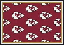 kansas city chiefs red background sports team rug