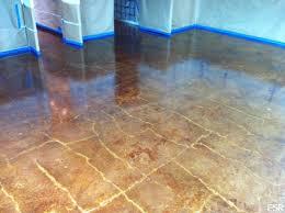 acid stained concrete floor. Interesting Floor Acid Stained Concrete Floor Restoration In Concrete Floor A