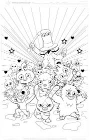 Moshi Monsters Coloring In Pages بحث