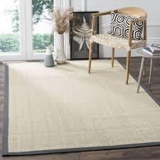 safavieh casual natural fiber marble grey sisal rug 10 x 10 square
