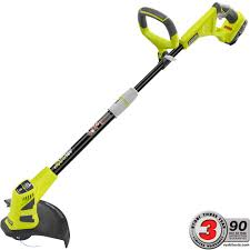 ryobi weed eater. ryobi one+ 18-volt lithium-ion hybrid electric cordless string trimmer/edger - 1.3 ah battery and charger included-p2210 the home depot weed eater y
