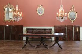 9 foot dining table. Triple Pedestal Dining Table Shown With Extension Leaves In The Background 9 Foot L
