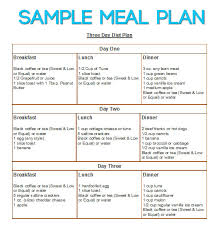 Lite N Easy Sample Meal Planning Weekly Diet Plan Templ On Freezy ...