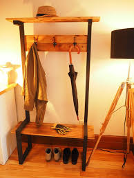 Industrial Style Coat Rack Industrial Coat Rack Bench Hall tree DIY Montreal madera 58