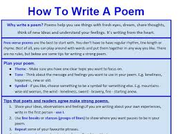 Genre Booklet How To Write Free Verse Poetry
