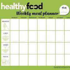 Weekly Menu Planner Australian Healthy Food Guide