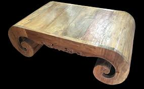 description hand carved teak root coffee table