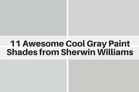 Gray Paint Chart 11 Awesome Cool Gray Paint Shades From Sherwin Williams