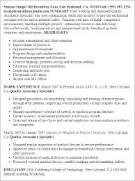Resume Templates: Quality Assurance Specialist
