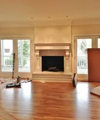 fireplace and mantel makeover between