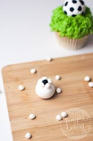 Mini Soccer Ball Decorations Extraordinary How To Make An Easy Fondant Soccer Ball Topper