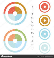 Astrological Chart Divided Four Elements Stock Vector