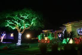 green outdoor lights photo 2