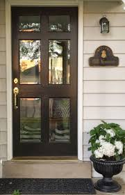 glass front doors - don't be afraid (little black door)