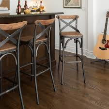 Modern Style Bar Stools Dixon Reclaimed Wood And Iron 30 Inch Barstool By Kosas Home By