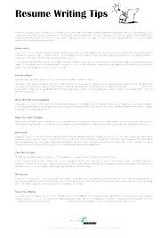 Resume Letter Stunning Writing A Perfect Resume How To Write The Perfect Resume Writing