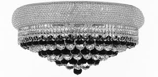 f93 b95 flush cs 542 15 gallery empire style french empire flush crystal chandelier chandeliers h15 x w24 dressed with jet black crystal good for