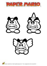 Coloriage Mario Paper 2 Sur Hugolescargot Com