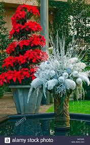 Weihnachten Anzeige Weiß Silber Dekoration Rote