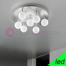 sphere ceiling light led modern d 72 design 7 lights glass white ball braga lighting