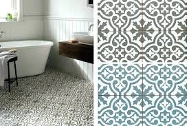 Patterned Vinyl Tiles Beauteous Patterned Floor Tiles White Tile Black Grout And Beautiful Patterned