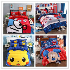 popular cartoon doraemon kitty children bedding set queen full size duvet cover sheet pillow case bed