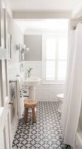a classic black and white bathroom patterned tile bathroom floorpaint