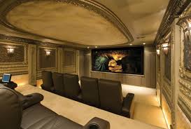 home theater floor lighting. briliant home theater design with sweet wall lamp and cozy black couch on simple floor under lighting