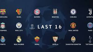 the pots for champions league last 16 first and second leg dates
