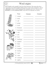 Word Origin Using A Dictionary Word Origins Worksheets Activities